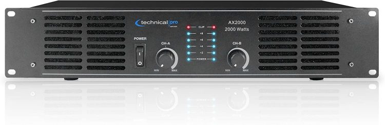 Technical Pro AX2000 2U Professional 2CH Power Amplifier - professional power amplifiers