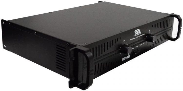Seismic Audio Power Amplifier MBG-4000 – 2 x 500 Watts - professional power amplifiers