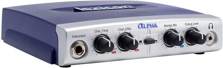 Lexicon Multi-Channel Desktop Recording Studio, 2x2x2 (2-input, 2-bus, 2-output) (Alpha) - Budget Audio Interfaces