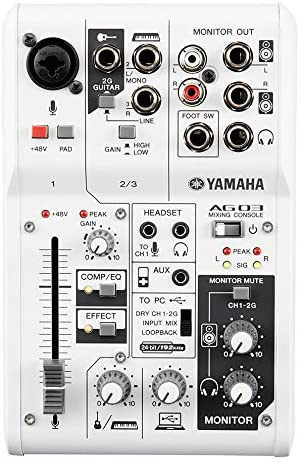 Yamaha Ag03 3-Channel Mixer - electronic audio mixers