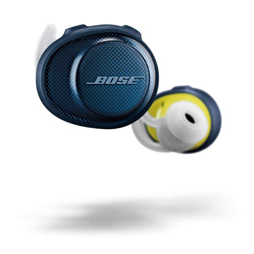 Bose SoundSport Free Truly Wireless Headphones - Midnight Blue with Citron - wireless earbuds