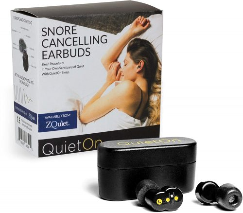 ZQUIET QuietOn Premium Snore Cancelling Wireless Earbuds – Active Noise Cancellation for Snoring and General Noise Reduction, 4x Better than Foam...