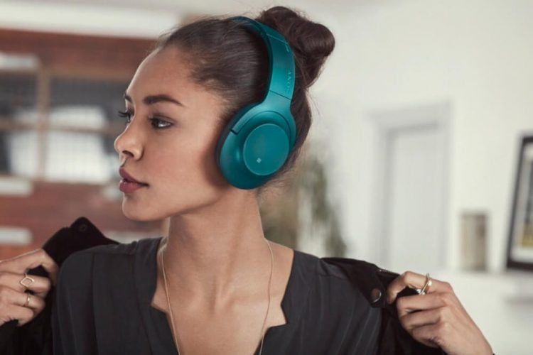 A Girl Listening to Headphone