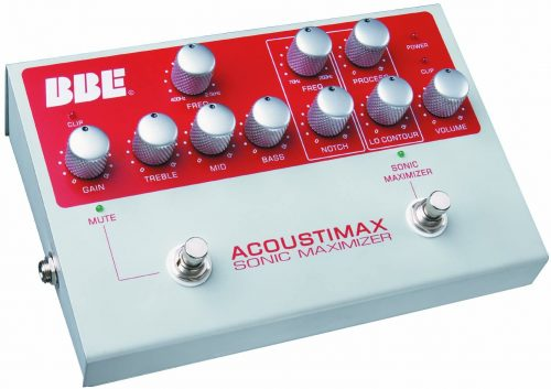 BBE Acoustimax Acoustic Instrument Preamp Pedal with Full Featured Sonic Maximizer