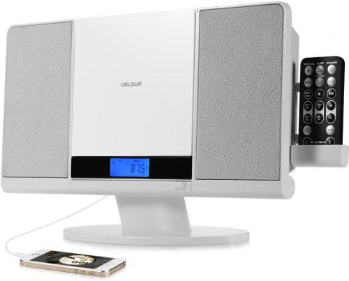 VELOUR Stereo System Slim Boombox