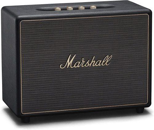 Marshall Woburn Multi-Room Wi-Fi and Bluetooth Speaker, Black
