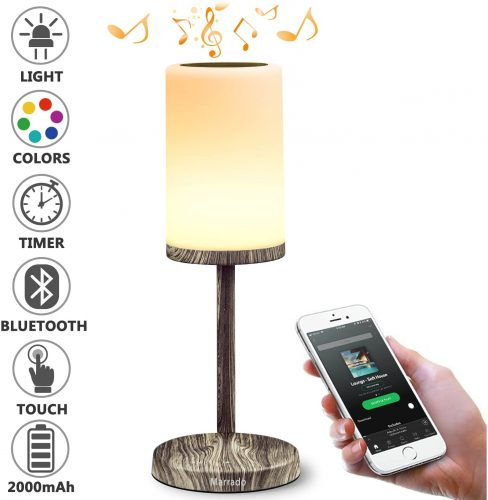 Marrado Bedside Lamp with Bluetooth Speaker