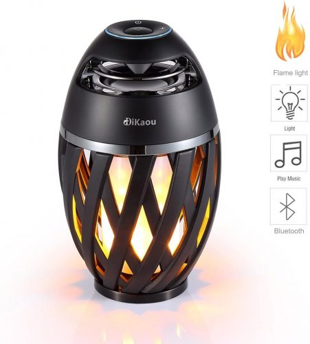 DIKAOU Led flame table lamp, Torch atmosphere Bluetooth