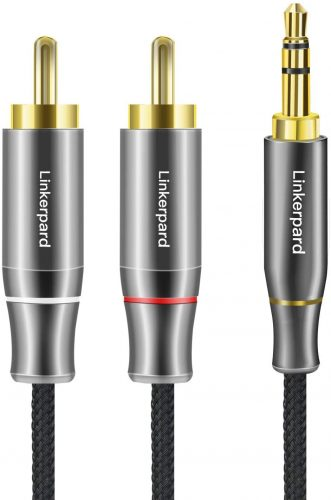 Linkerpard 3.5mm to 2-Male RCA Adapter Cable