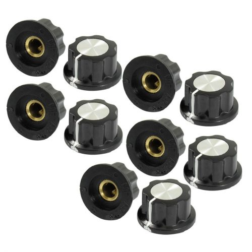uxcell Silver Tony Top Rotary - electric guitar knobs