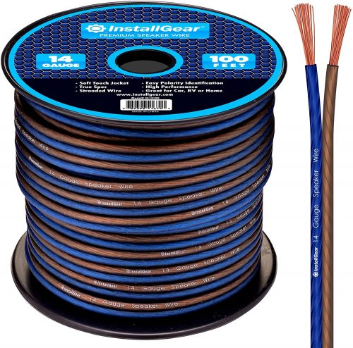 InstallGear 14 Gauge AWG 100ft Speaker Wire Cable - Speaker Cables