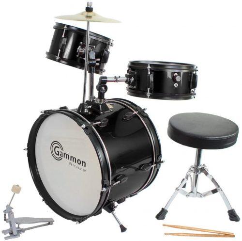Complete Drum Set Black - Beginner Drum