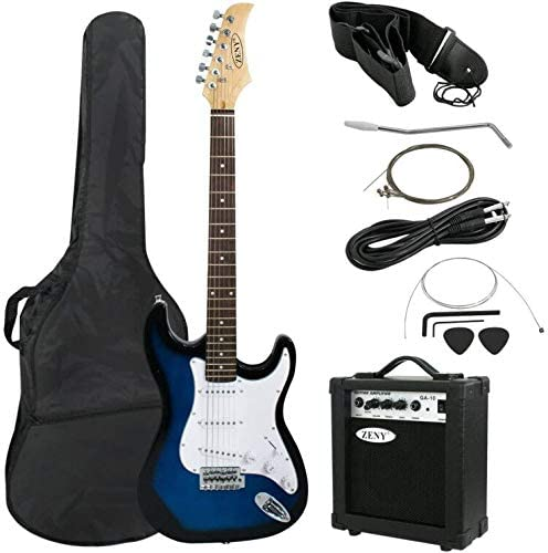 ZENY Full-Size Electric Guitar - Bass Guitar beginner Kits