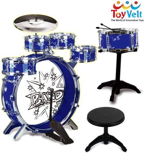 12 Piece Kids Jazz Drum Set - Toddler's Drum Sets