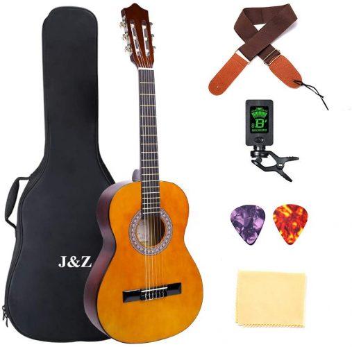 J&Z Junior Size Classical Guitar Acoustic Guitar Kit - guitar for kids