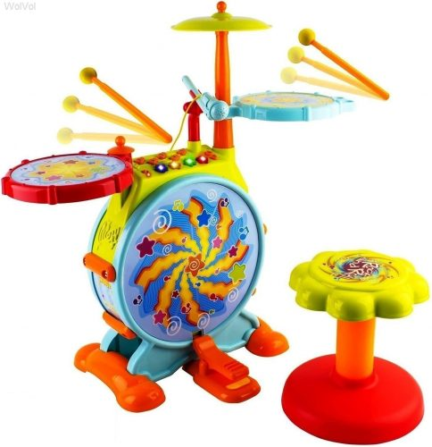 WolVol Electric Big Toy Drum Set - Toddler's Drum Sets