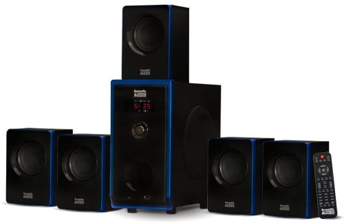 Acoustic Audio AA5102 Bluetooth Powered 5.1 Speaker System Home